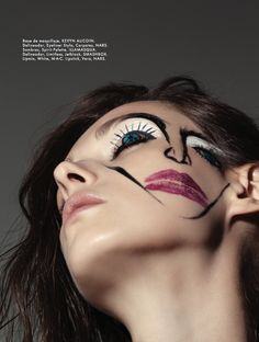 Andrea Pearl by Anairam for Elle Mexico August 2015 beauty story