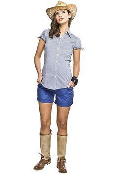 Krátké modré těhotenské kraťasy na léto Peplum, Tops, Women, Style, Fashion, Swag, Moda, Fashion Styles, Veil