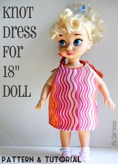 "18"" Doll Knot Dress {Pattern & Tutorial}... - The Sewing Rabbit"