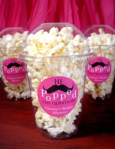Popcorn Boxes - He Popped the Question Party Couture, ETSY $23 for ...
