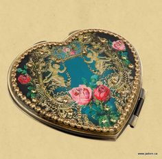 Michal Negrin Compact Mirror - beautiful jewelled compact made in Israel