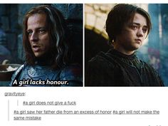 A girl learned in the most brutal way that the Game of Thrones cannot be survived with honor.