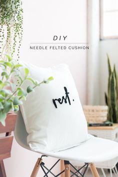 DIY Needle Felted Lettered Cushion | Fall For DIY | Bloglovin'