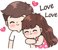 This love for you, send your love to your couple. It& so cute >. Cute Couple Drawings, Cute Couple Art, Anime Couples Drawings, Love Drawings, Cute Couples, Cute Love Pictures, Cute Cartoon Pictures, Cute Love Gif, Love Cartoon Couple