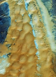 Earth from Space: Algerian sands by esa.int: This image from the Ikonos-2 satellite shows the sandy and rocky terrain of the Sahara desert by bridgette.jons