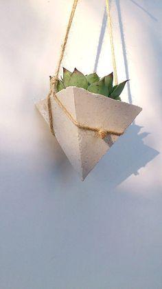 White Concrete Planter/Succulente planters/Hanging by InGaConcrete
