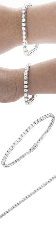 Diamond 10976: Ladies Classic Round Brilliant Cut Diamond Bracelet 5.00 Carat 14K White Gold -> BUY IT NOW ONLY: $2870.99 on eBay!