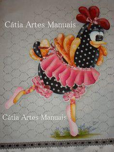 Catia Artes Manuais: PINTURA COUNTRY (GALINHA) COM PASSO A PASSO