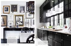 Gorgeous black kitchen December 2012 - Lonny Magazine - Lonny