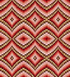 Bargello Quilt Pattern on Craftsy - new style love