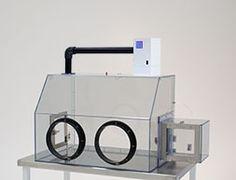 Filtered, Closed-Loop Containment Glove Box, Single, SDPVC