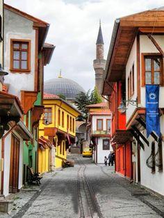 Old Turkish houses in Odunpazarı Eskişehir / Turkey Places Around The World, Around The Worlds, Places To Travel, Places To Visit, Turkey Photos, Turkish Art, Urban City, Turkey Travel, Urban Sketching