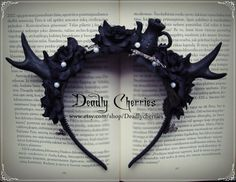 Hey, I found this really awesome Etsy listing at https://www.etsy.com/listing/184577742/dark-mori-gothic-lolita-fantasy-deer