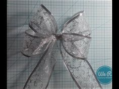 In this video I am showing how I like to make the 4 loop wire ribbon bow for this one I am using 2 inch wide wire ribbon and a 8 inch wide cardboard template. Ribbon Hair Bows, Diy Hair Bows, Diy Ribbon, Ribbon Crafts, Christmas Wired Ribbon, Christmas Tree Bows, Gift Wrapping Bows, Gift Bows, How To Make A Ribbon Bow