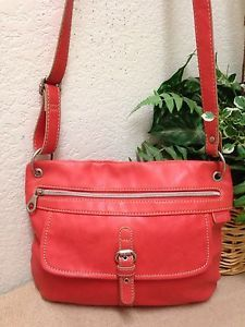 Relic Orange Coral Faux Leather Messenger Crossbody Bag Shoulder Handbag  Medium  e0a781685a8b2
