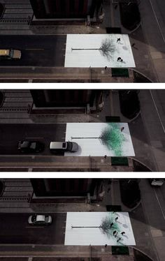 Interactive art.   Green Pedestrian Crossing - created Jody Xiong.