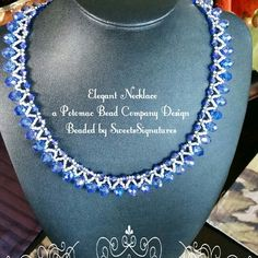 The Elegant Necklace..crystal rondelles and 4mm bicones..a Potomac Bead Company Design...soon to be posted in my etsy store...www.facebook.com/sweetssignatures