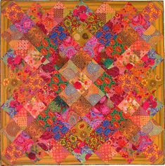 "Mirrored Squares by Kaffe Fassett. Approx size 94 x 94"" Book: Quilt Grandeur available fall 2013"
