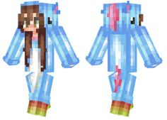 Girl wearing kawaii unicorn onesie.