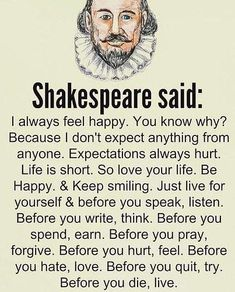 The wisdom of Shakespeare - wisdom quotes Wise Quotes, Quotable Quotes, Words Quotes, Motivational Quotes, Funny Quotes, Wisdom Sayings, Deep Life Quotes, Couple Quotes, Encouragement Quotes