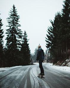 Garrett moving down a mountain in Sandpoint, Idaho. Cedar Skate