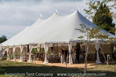 7. Sailcloth tents have a distinctive look and are best in the more temperate months.