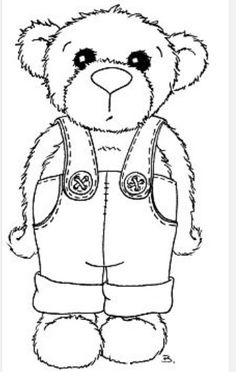 Free Printable Corduroy Bear Coloring Sheet Sketch Page