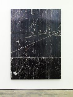 Gregor Hildebrandt, Black to Black (Back to Black, (A.W.)), 2010 cassette tape, dispersion on canvas 197 x 142 cm