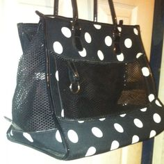 Doggie Purse for Small Dog NWOT Black/White Polka Dot Doggie Carrier Purse as a small dog can fit I would say from 5-10 lbs. so you can take your furbaby shopping with you in camouflage if you train it early in age to travel in the pet purse. You and your furbaby will have so much fun! And if your furbaby is trained will most likely snooze as you can place a small pet bed inside as I also have that fits perfect if interested just ask & I can post for you so you can bundle. Thanks for…