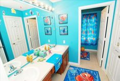 15 Of The Most Adorable Kids Bathroom Sets - 15 Of The Most Adorable Kids Bathroom Sets kids bathroom ideas with finding nemo theme Kids Bathroom Sets, Childrens Bathroom, Baby Bathroom, Kid Bathroom Decor, Kid Bathrooms, Bathroom Towels, Bathroom Designs, Bathroom Theme Ideas, Unisex Bathroom