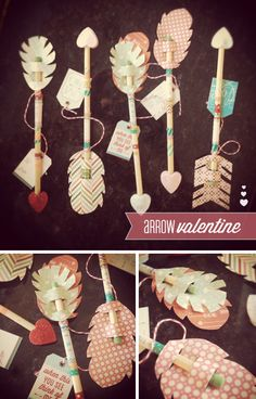 Cute and Unique Valentines---Or could be done as a craft in a classroom.  Love it!!