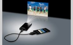 iPhone projector. Would be great for meetings!