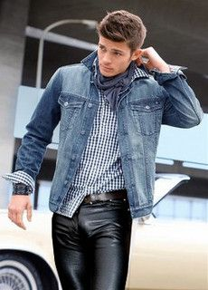 men in leather pants by Officeleather, via Flickr