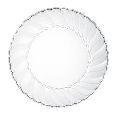 Clear Plastic Plates 50 pcs 9\  Food Grade Clear Plastic Plates Washable Reusable #AlphaSigma  sc 1 st  Pinterest & Party Essentials Plastic Party Plates 9\