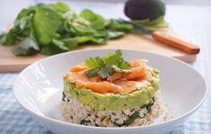 Smoked salmon guacamole rice stack #madewithlove
