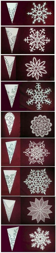 51 Ideas Origami Christmas Diy Snowflake Template – Welcome My World Holiday Crafts, Fun Crafts, Diy And Crafts, Crafts For Kids, Kirigami, Diy Paper, Paper Crafting, Christmas Art, Christmas Decorations