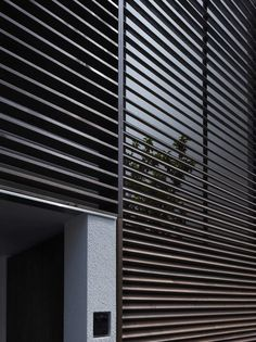 Architecture, Dark Black Exterior Shutter Design Which Has The Unique Design To Avoid Direct Sunlight From This IS House Modern House Interior ~ Fancy Minimalist House decorated with Chic Window Shutter Exterior Blinds, Exterior Shades, Black Exterior, Modern Shutters, Japanese Modern House, Metal Facade, Metal Screen, Shutter Designs, Yamagata