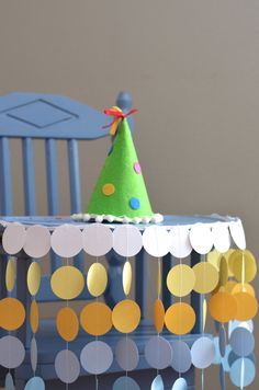 First Birthday High Chair Birthday Banner - sunny circles by thePathLessTraveled, custom colors available!