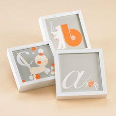 Baby Decor: Kids Elegant Framed Letters - Framed Letter A by The Land of Nod $28