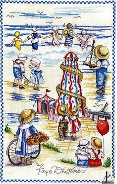 Seaside Montage - All Our Yesterdays Cross Stitch Kit By Faye Whittaker