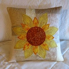 Connie C. shared her awesome Daisy May Pillow on AccuQuilt Quilter's Spotlight. See Show-and-Tell from other quilters or share your favorite. #accuquilt