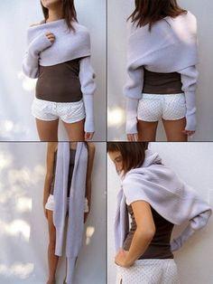 DIY Sleeve Shrug - FREE Sewing Pattern and Tutorial