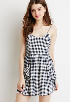 Gingham Fit & Flare Cami Dress | Forever 21 - 2000154455