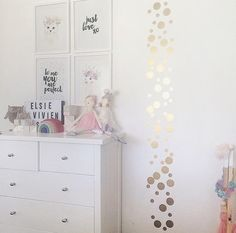 Gold Polka Dot Decals, DIY, Home decor, Gold Dot Decals, Gold Polkadot Decals $19 from rockymountaindecals.ca