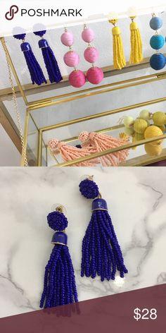 Blue tassel earrings Blue tassel earrings Jewelry Earrings