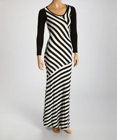 Another great find on #zulily! Black Scoop Neck Maxi Dress by American Twist #zulilyfinds