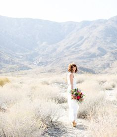 Bohemian wedding in the desert. Palm Springs wedding shoot styled by Birds of a Feather. Featured on Green Wedding Shoes.