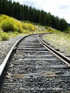 Train Tracks in the Colorado Mountains