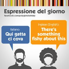 English / Italian idiom: There's something fishy about this