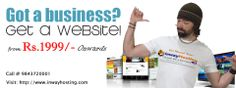 Create your static professional website with inway hosting at just Rs.1999.